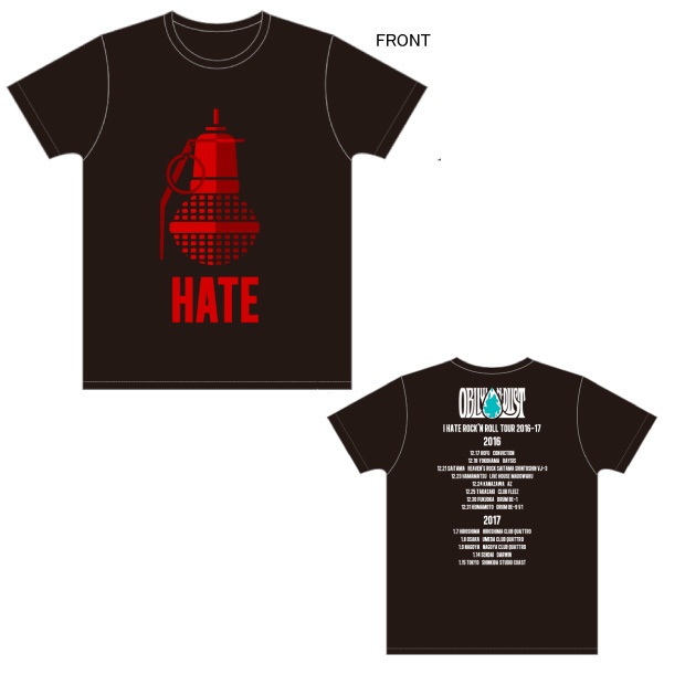 Tシャツ(手榴弾) [I Hate Rock'n Roll Tour 2016-2017]
